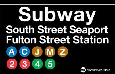 Subway South Street Seaport- Fulton Street Station