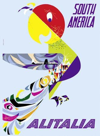 Sud America (South America) - Alitalia Italian Air Company