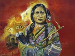 Sitting Bull Peace Pipe Visions by Sue Clyne