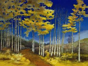 Yellow Aspen by Sue Darius