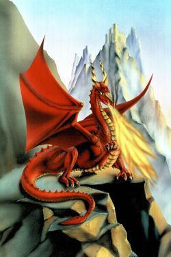 Sue Dawe Red Fire Dragon Fantasy by Sue Dawe