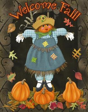 Fall Scarecrow II by Sue Ditzian