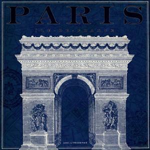Blueprint Arc de Triomphe by Sue Schlabach