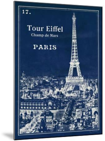 Blueprint Eiffel Tower by Sue Schlabach