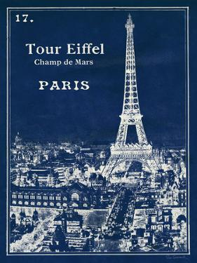 Blueprint Eiffel Tower by Sue Schlabach