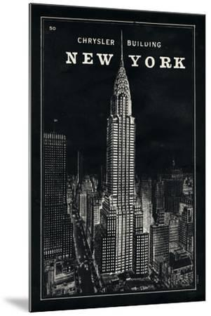 Blueprint Map New York Chrysler Building Black by Sue Schlabach