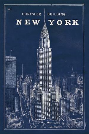 Blueprint Map New York Chrysler Building by Sue Schlabach