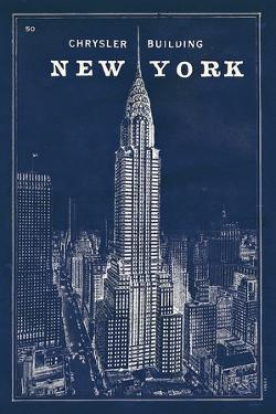 Blueprint Map New York Chrysler Building by Sue Schlabach