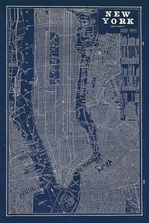 Blueprint Map New York by Sue Schlabach