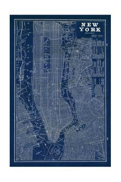 Blueprint Map New York by Sue Schlabach