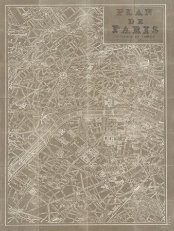 Blueprint Map Paris Taupe
