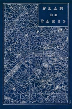 Blueprint Map Paris by Sue Schlabach