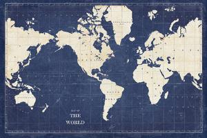 Blueprint World Map by Sue Schlabach