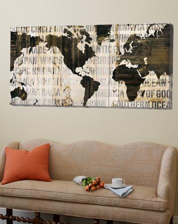 Crate World Map Neutral by Sue Schlabach
