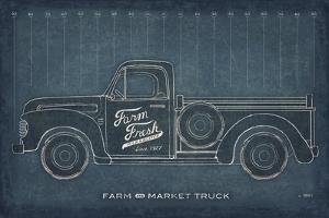 Farm Truck Blueprint by Sue Schlabach
