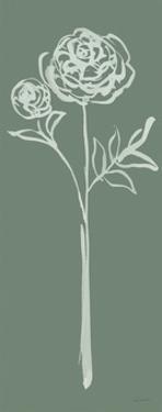 Floral Line I Green by Sue Schlabach