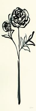 Floral Line I on Cream by Sue Schlabach