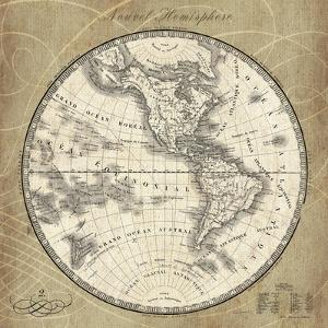 French World Map III by Sue Schlabach
