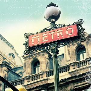 Paris Metro Letter by Sue Schlabach