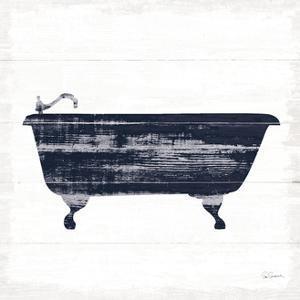 Shiplap Bath I Navy by Sue Schlabach