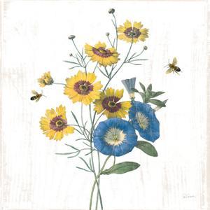 White Barn Flowers VIII Sq by Sue Schlabach
