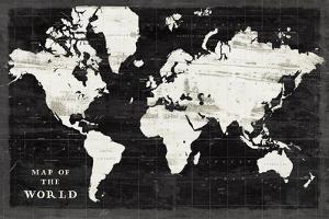 World Map Black by Sue Schlabach