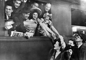 A French Theater Company Leaving the Train Station of Paris, 1943 by Süddeutsche Zeitung Photo