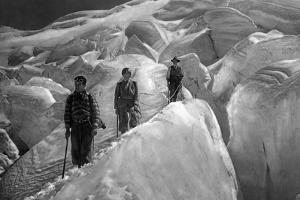 Crossing of a Glacer at the Jungfrau Area, 1929 by Süddeutsche Zeitung Photo