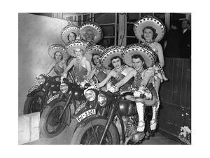 Dancers of the Tobis-Ballet on Motorcycles, 1939 by Süddeutsche Zeitung Photo