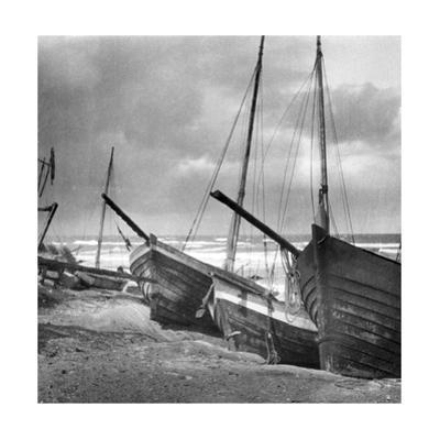 Fishing Boats in Sambia, 1924 by Süddeutsche Zeitung Photo
