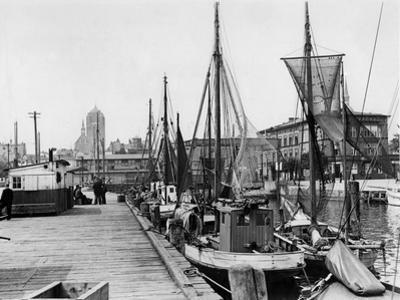 Harbour of Stralsund, 1937 by Süddeutsche Zeitung Photo