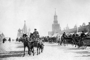 Red Square and St. Basil's Cathedral in Moscow, 1905 by Süddeutsche Zeitung Photo