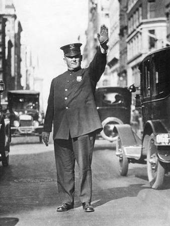 Traffic Policeman in the Usa, 1935