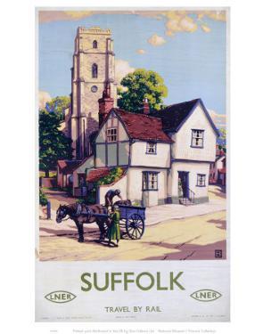 Suffolk Church, Horse and Cart