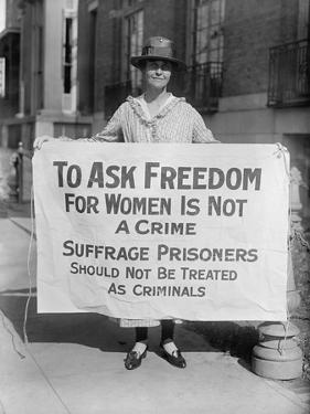 Suffragist Protests Criminal Arrests of National Woman's Party Members, 1910s