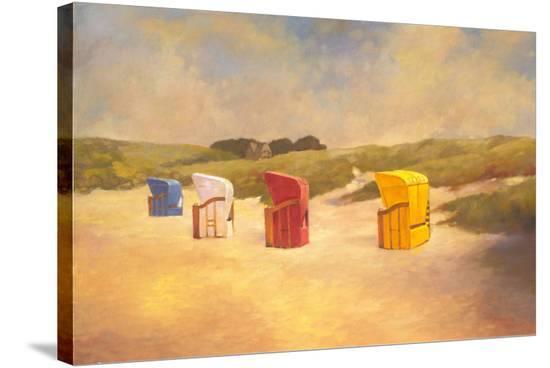 Summer Beach I-Graham Reynolds-Stretched Canvas Print