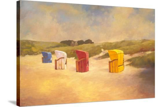 Summer Beach I-Graham Reynolds-Stretched Canvas