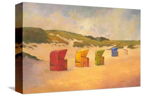 Summer Beach II-Graham Reynolds-Stretched Canvas