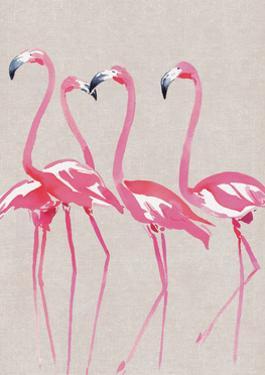 Elegant Flamingos by Summer Thornton
