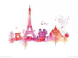 Paris Skyline by Summer Thornton