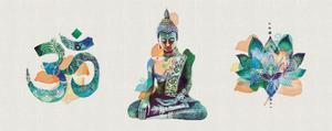 Yoga Triptych by Summer Thornton