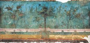 Summer Triclinium: Garden Paintings, 20 A.D. Ancient Roman painting. Palazzo Massimo, Rome