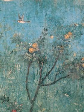 Summer Triclinium: Garden Paintings, 20 A.D. Detail. Ancient Roman painting. Palazzo Massimo, Rome