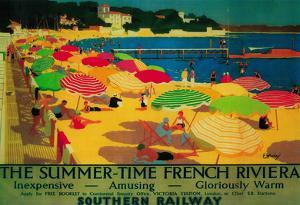 Summertime French Riviera Vintage Poster - Europe