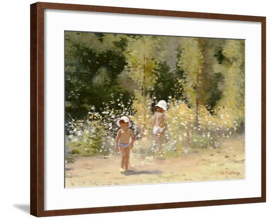 Summertime in France, 1988-Gillian Furlong-Framed Giclee Print
