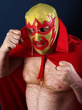 Luchador Portrait by sumnersgraphicsinc