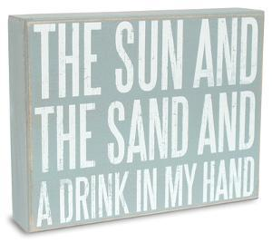 Sun Sand Drink Box Sign