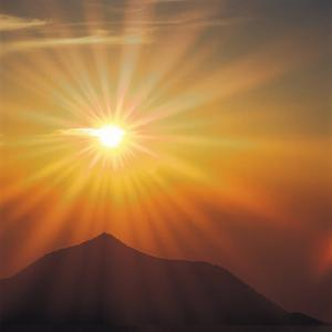 Sun Shinning Over the Mountain, Computer Graphics, Lens Flare
