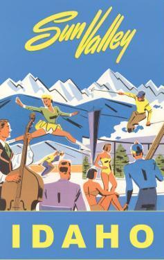 Sun Valley, Idaho, Graphic of Winter Resort Activities