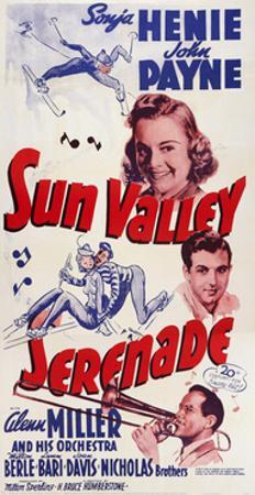 Sun Valley Serenade, from Top: Sonja Henie, John Payne, Glenn Miller, 1941